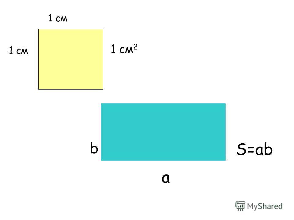 1 см 1 см 2 а b S=ab