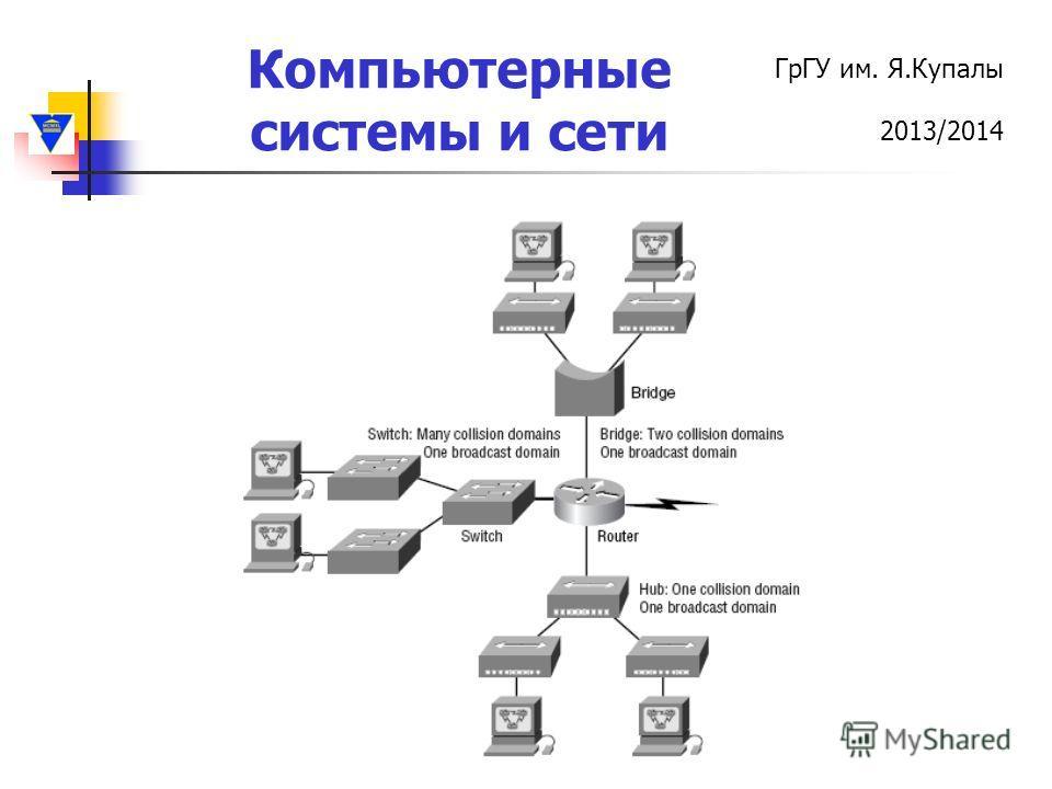 ГрГУ им. Я.Купалы 2013/2014 Компьютерные системы и сети