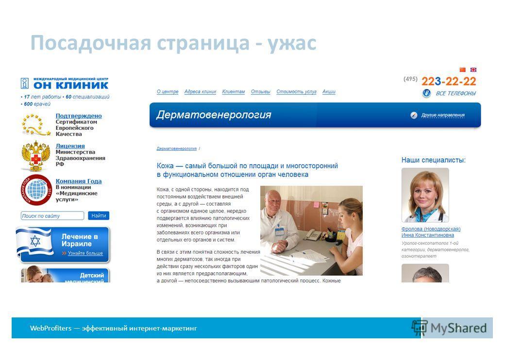WebProfiters эффективный интернет-маркетинг Посадочная страница - ужас 14
