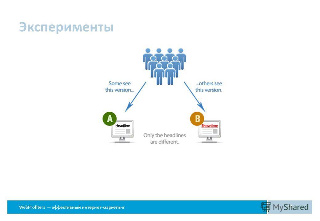 WebProfiters эффективный интернет-маркетинг Эксперименты 23
