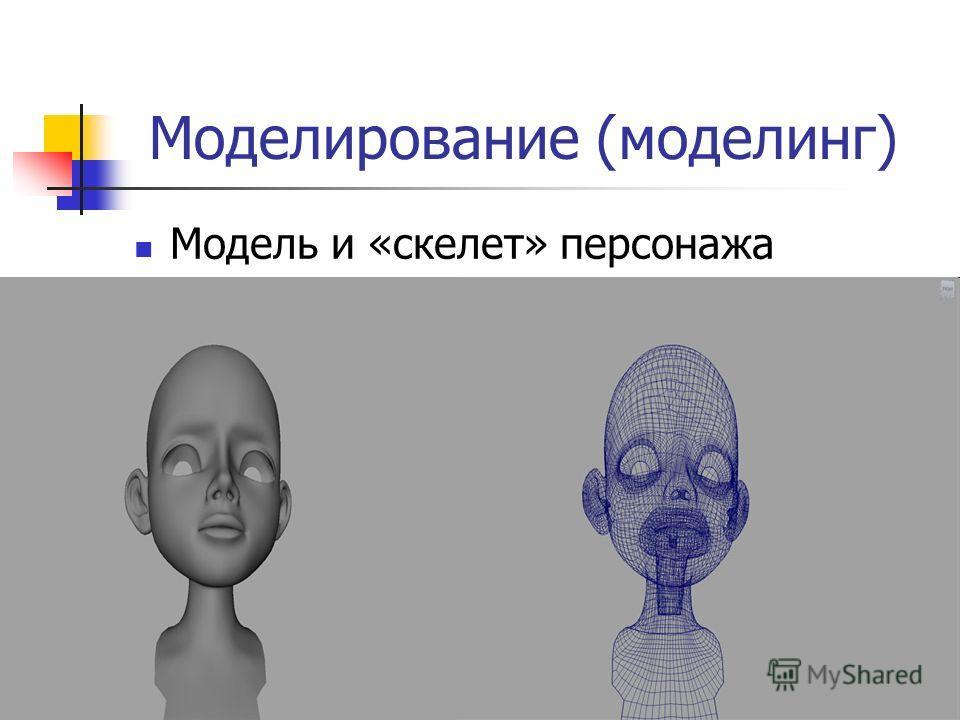 Моделирование (моделинг) Модель и «скелет» персонажа