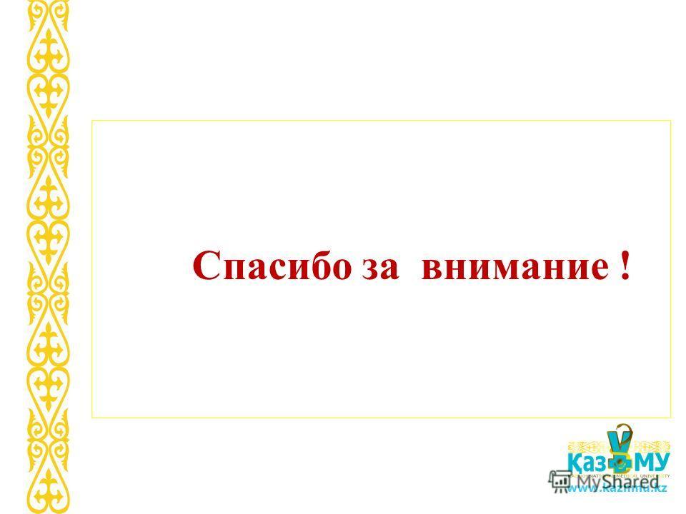 www.kaznmu.kz Спасибо за внимание !