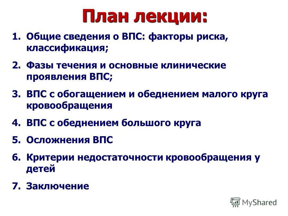План лекции: 1.