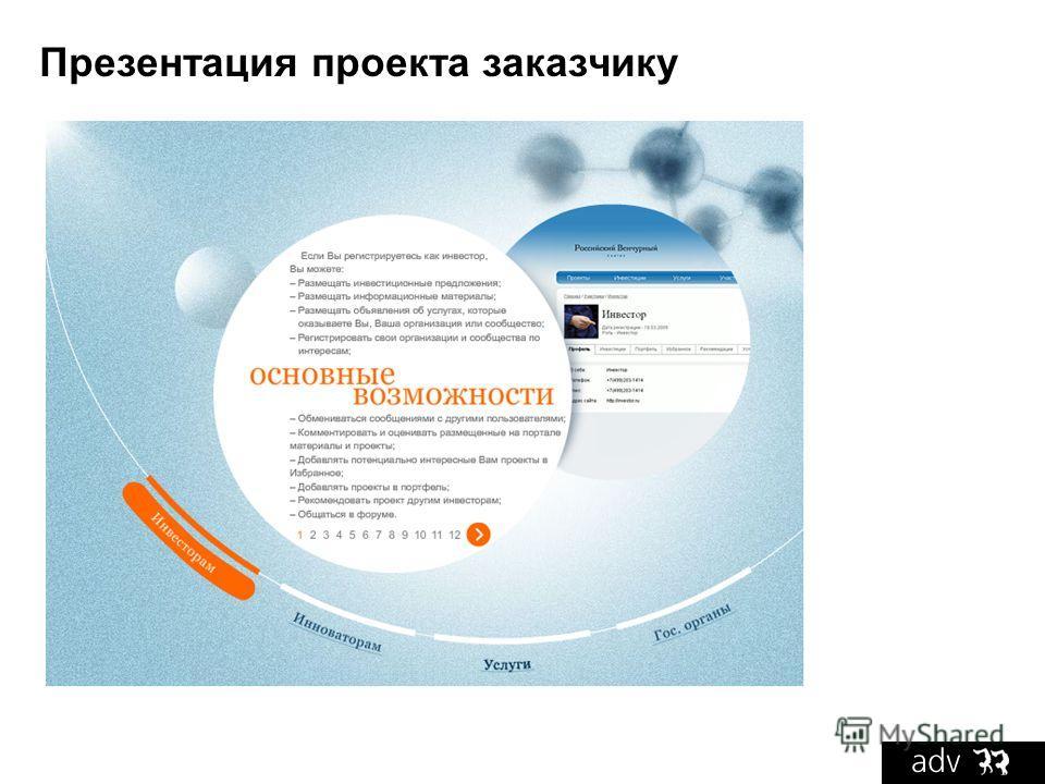 Презентация проекта заказчику