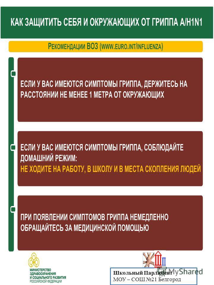 Школьный Парламент МОУ – СОШ 21 Белгород
