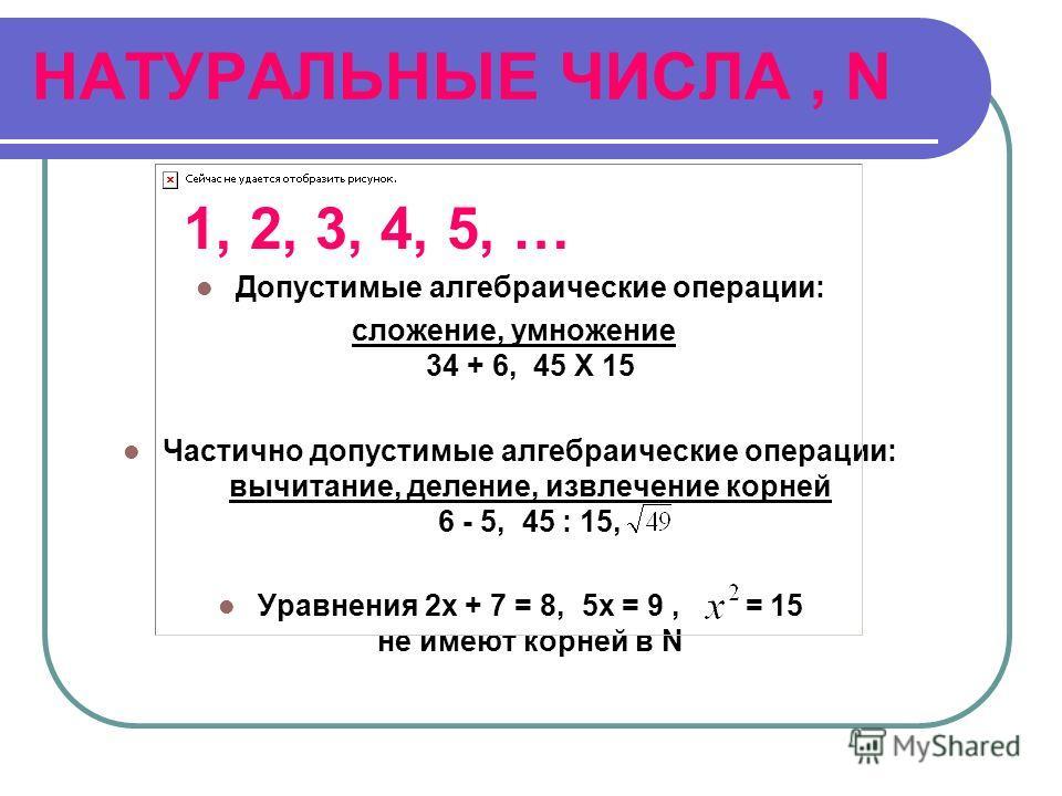 ЧИСЛОВЫЕ СИСТЕМЫ Действительные числа Рациональные числа Целые числа Комплексные числа Натуральные числа
