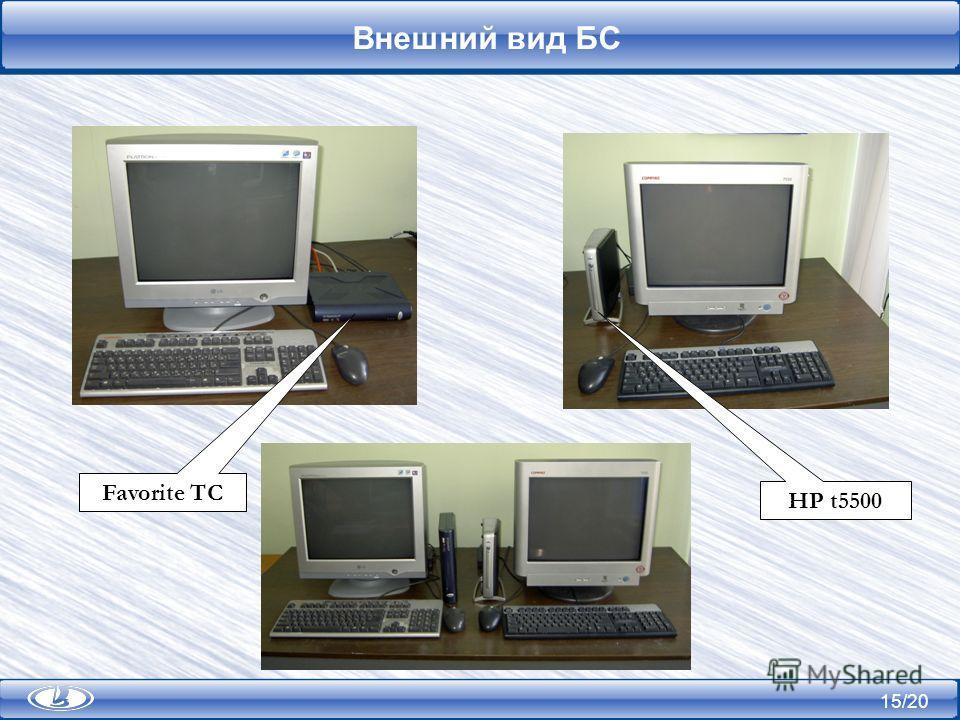 15/20 Внешний вид БС Favorite TC HP t5500