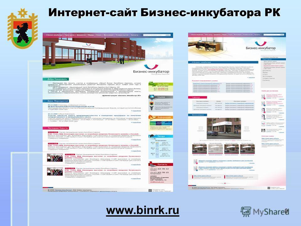 9 Интернет-сайт Бизнес-инкубатора РК www.binrk.ru