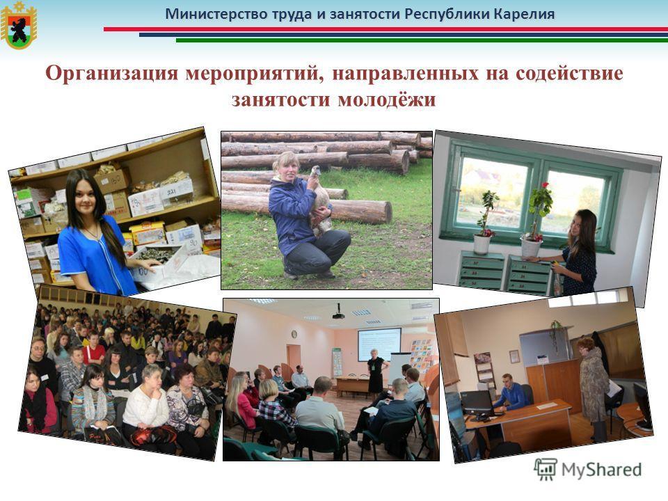 Министерство труда и занятости Республики Карелия Организация мероприятий, направленных на содействие занятости молодёжи
