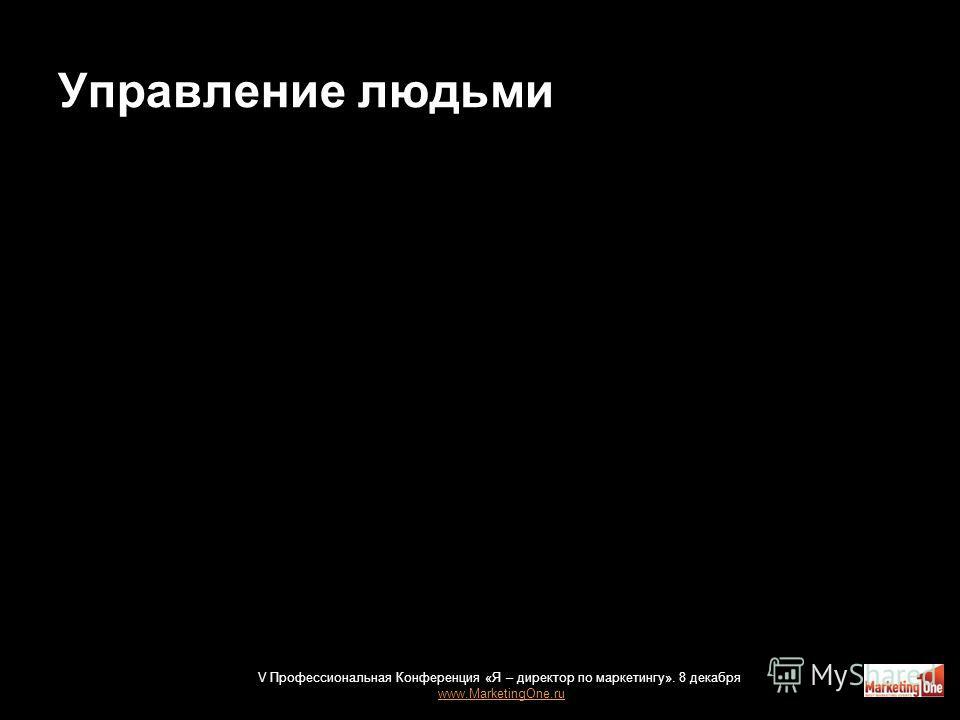Управление людьми 20 V Профессиональная Конференция «Я – директор по маркетингу». 8 декабря www.MarketingOne.ru