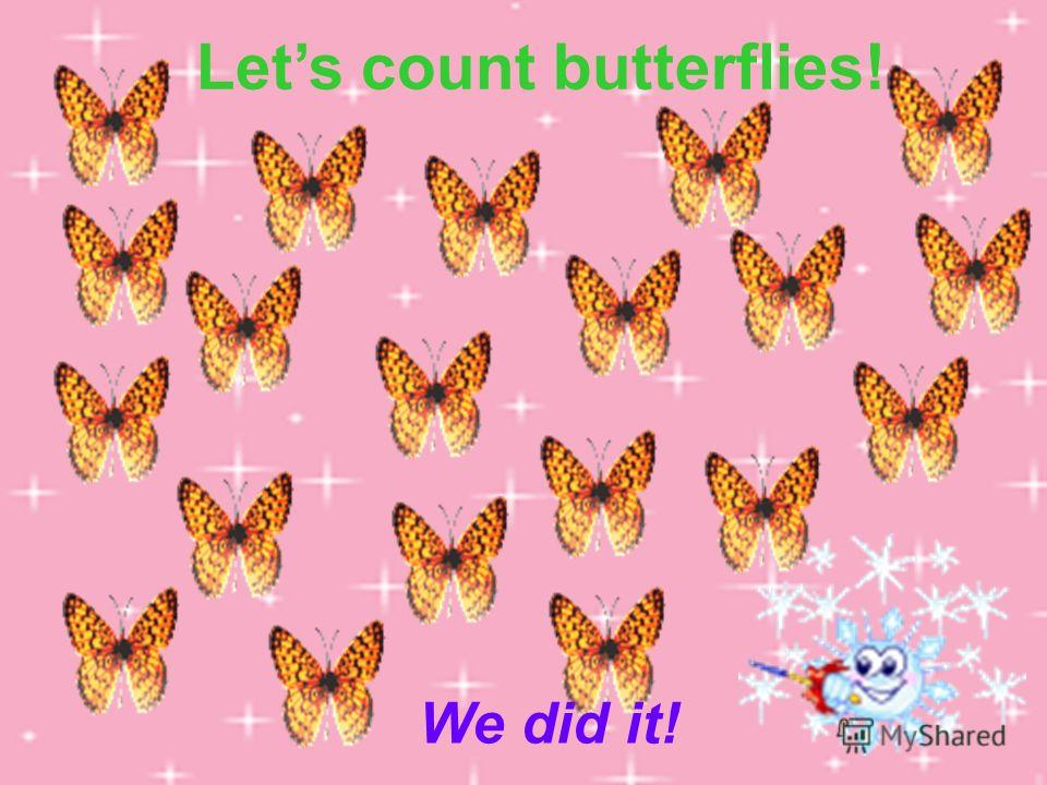 Lets count butterflies! We did it!