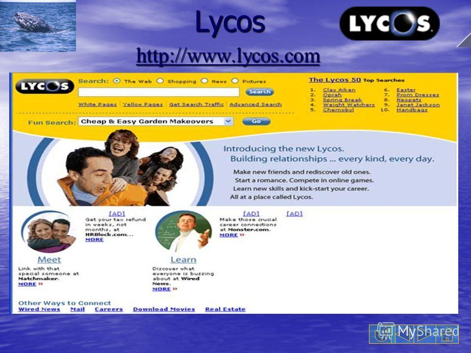Lycos Lycos http://www.lycos.com