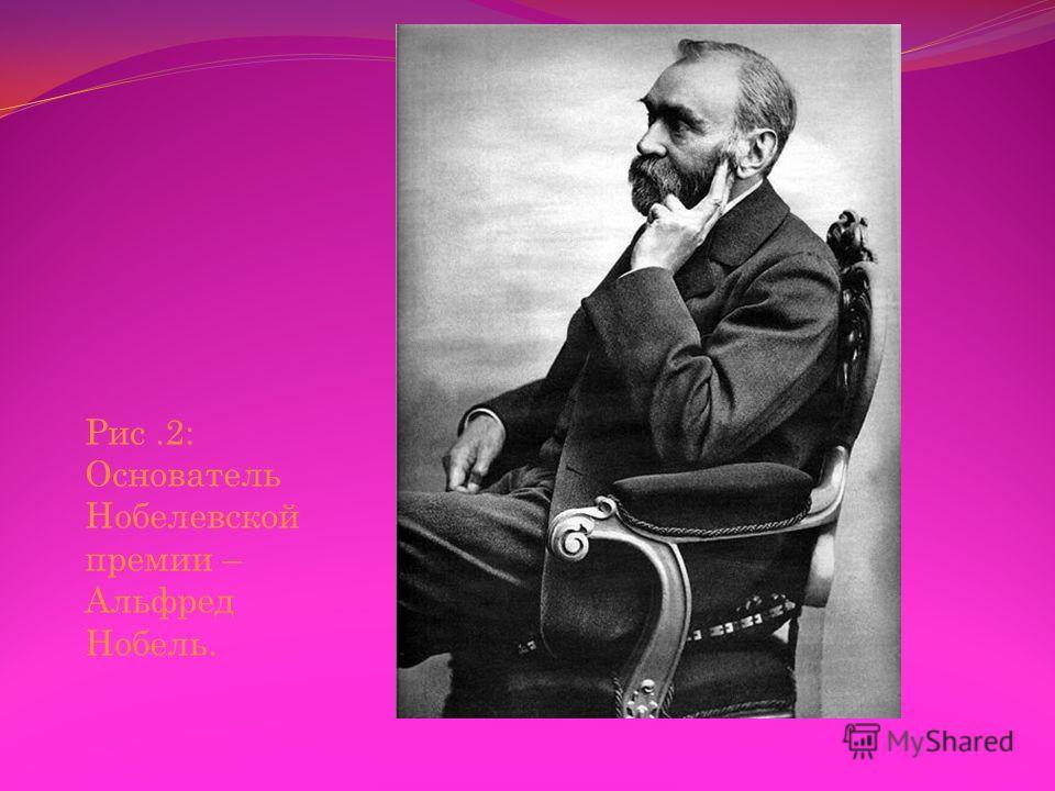 Рис.2: Основатель Нобелевской премии – Альфред Нобель.