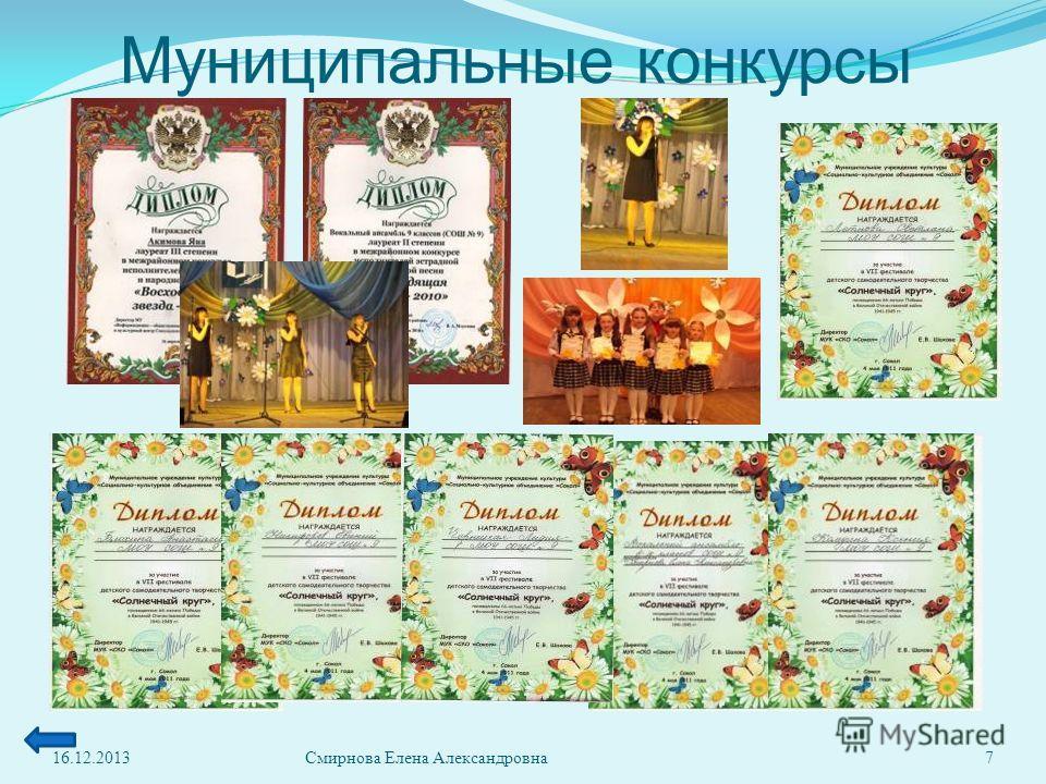 Муниципальные конкурсы 16.12.20137Смирнова Елена Александровна