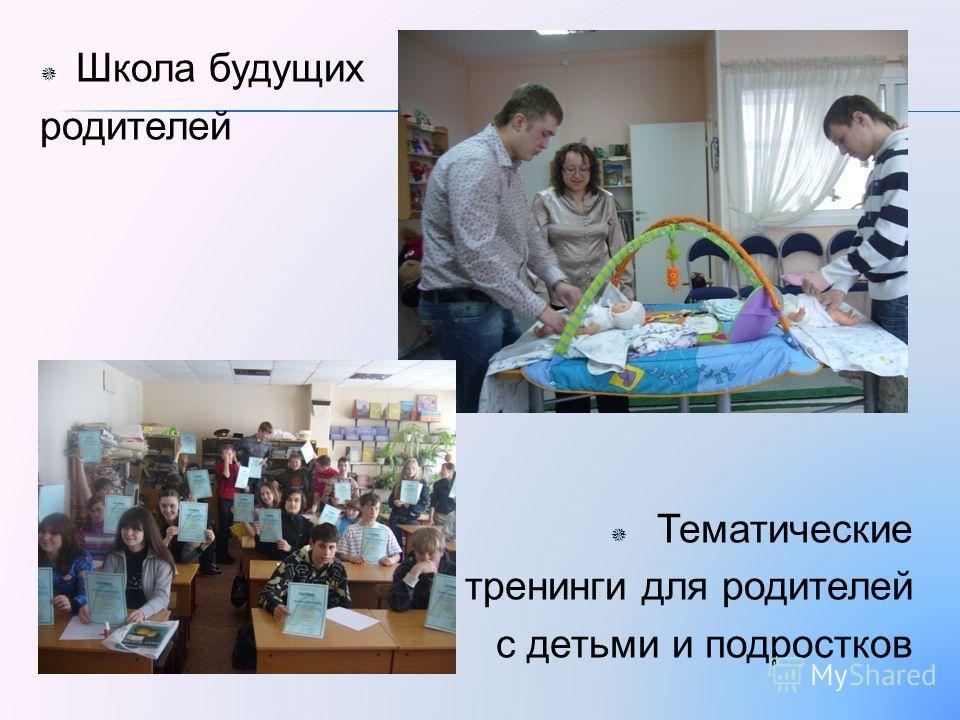 Школа будущих родителей Тематические тренинги для родителей с детьми и подростков