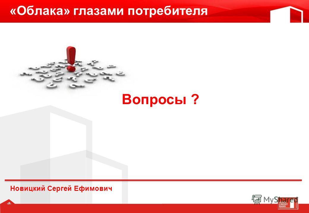 10 «Облака» глазами потребителя Новицкий Сергей Ефимович Вопросы ?