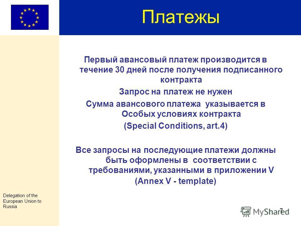 Delegation of the European Union to Russia 6 Изменение бюджета Письменное Уведомление: При условии, что изменения не затрагивают основные цели и задачи проекта перераспределение внутри бюджетной статьи перераспределение средств между статьями бюджета