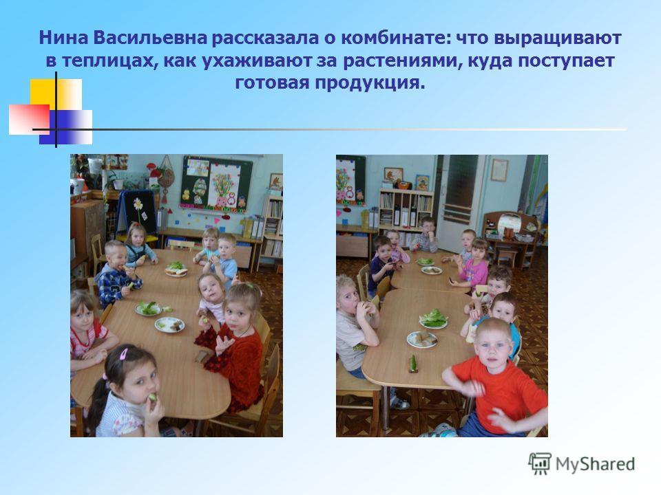 Встреча с Ниной Васильевной (бабушкой Алёши Мартюничева) Нина Васильевна работает в СХПК «Тепличный» контролёром по проверке качества готовой продукции.