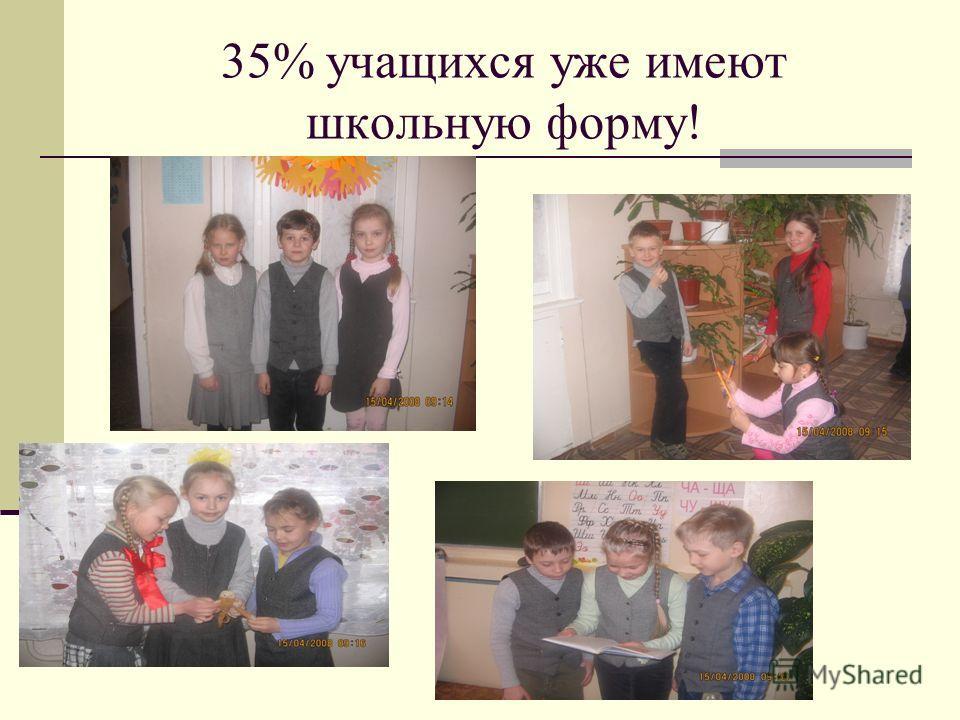 35% учащихся уже имеют школьную форму!