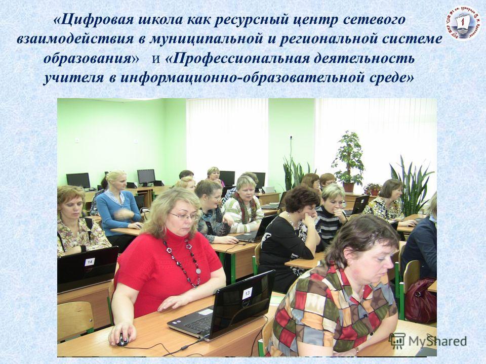 «Цифровая школа как ресурсный центр сетевого взаимодействия в муниципальной и региональной системе образования» и «Профессиональная деятельность учителя в информационно-образовательной среде»