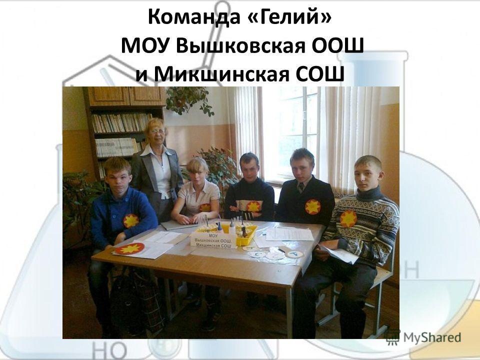 Команда «Гелий» МОУ Вышковская ООШ и Микшинская СОШ