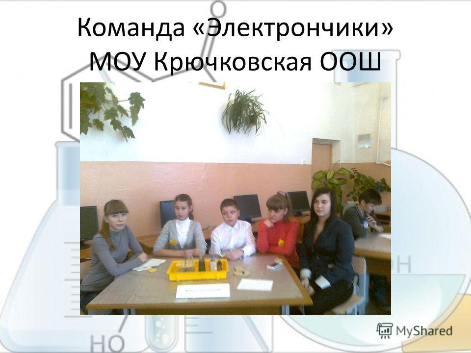 Команда «Электрончики» МОУ Крючковская ООШ