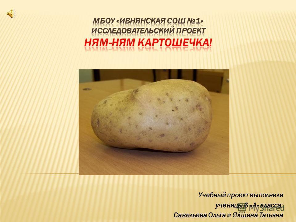 Учебный проект выполнили ученицы 6 «А» класса: Савельева Ольга и Якшина Татьяна