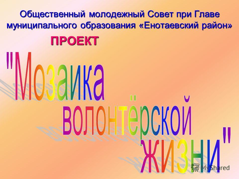 Общественный молодежный Совет при Главе муниципального образования «Енотаевский район» ПРОЕКТ