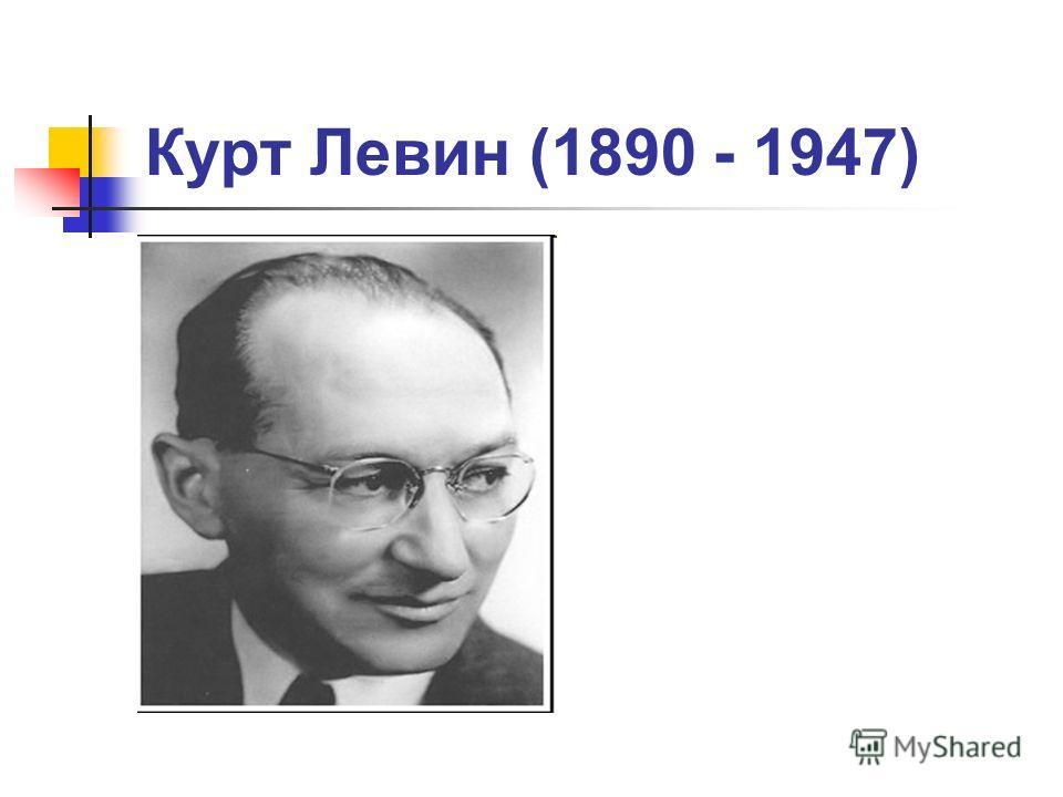 Курт Левин (1890 - 1947)