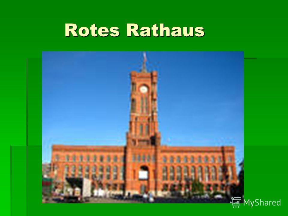 Rotes Rathaus Rotes Rathaus