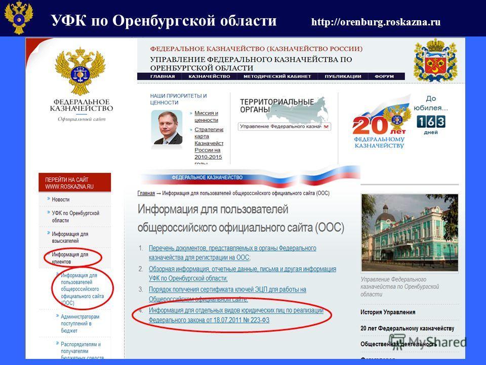 УФК по Оренбургской области http://orenburg.roskazna.ru