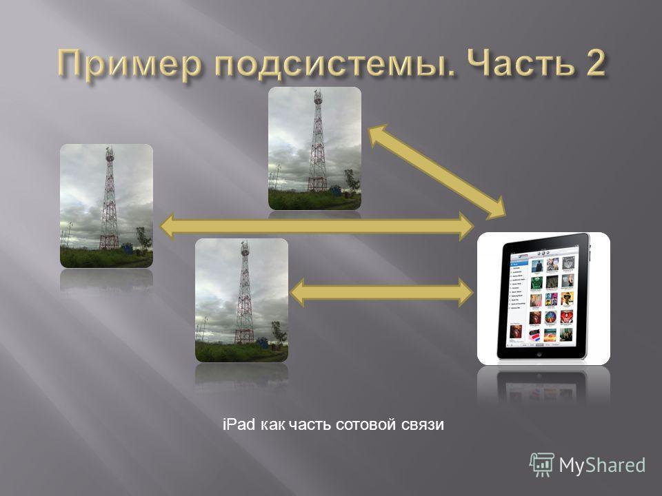 iPad как часть сотовой связи