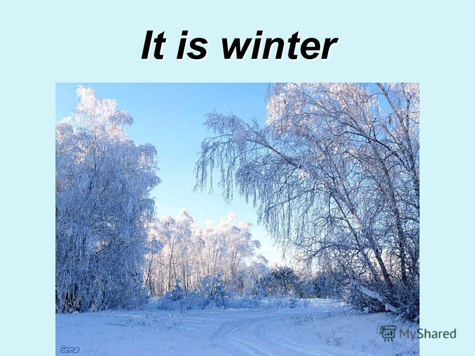 It is winter
