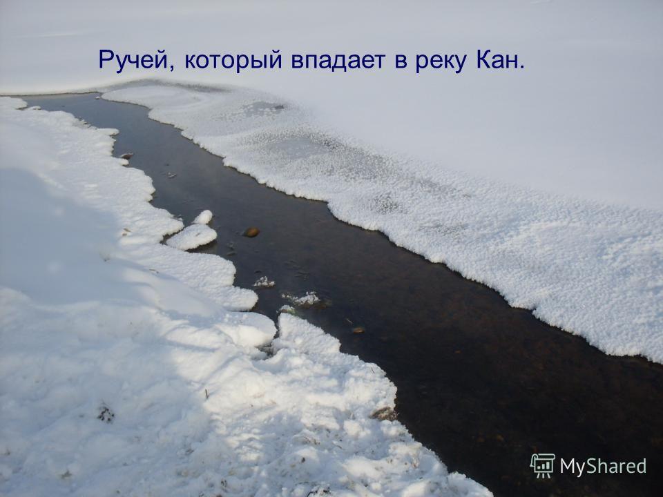 Ручей, который впадает в реку Кан.