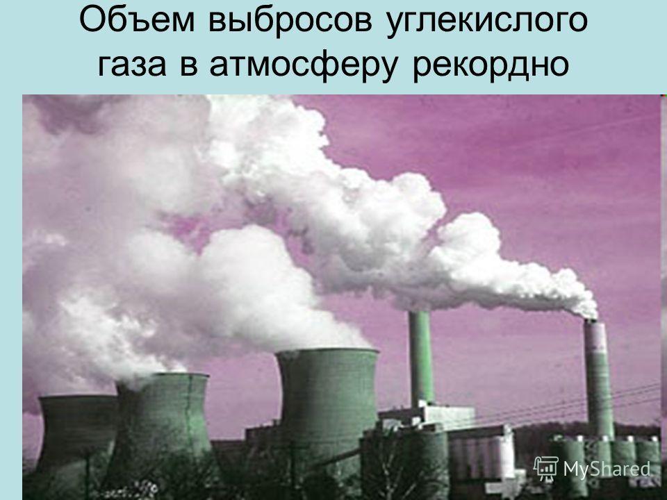 Oбъем выбросов углекислого газа в атмосферу рекордно возрос.