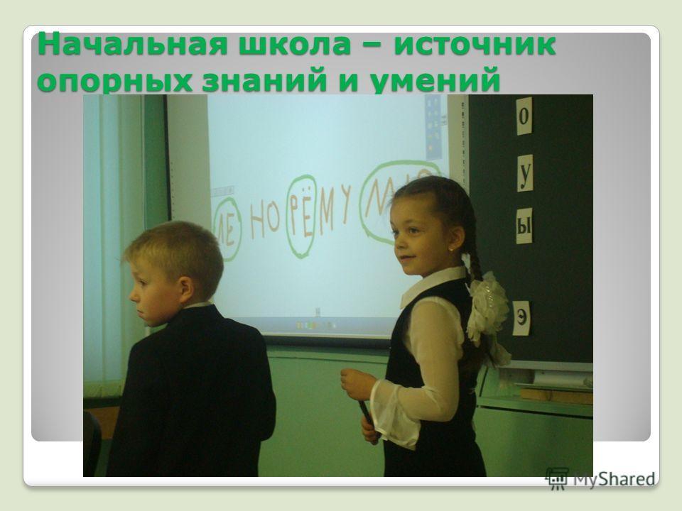 Начальная школа – источник опорных знаний и умений