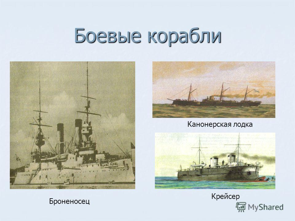 Боевые корабли Броненосец Канонерская лодка Крейсер