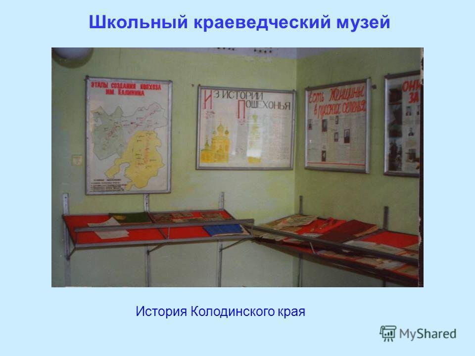 Школьный краеведческий музей История Колодинского края