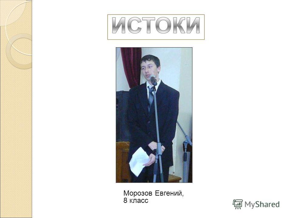 Морозов Евгений, 8 класс