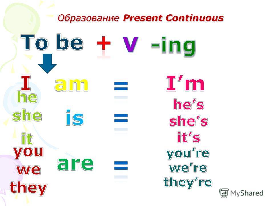 Образование Present Continuous