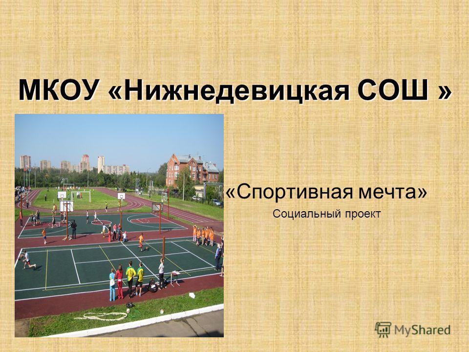 МКОУ «Нижнедевицкая СОШ » «Спортивная мечта» Социальный проект