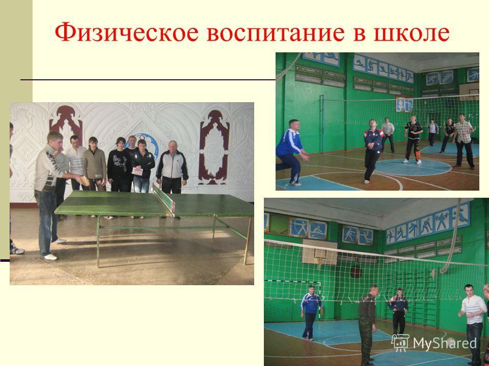 Физическое воспитание в школе
