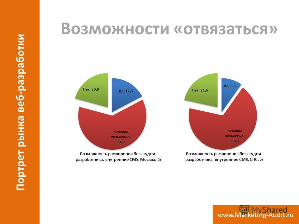 Возможности «отвязаться» Портрет рынка веб-разработки www.Marketing-Audit.ru