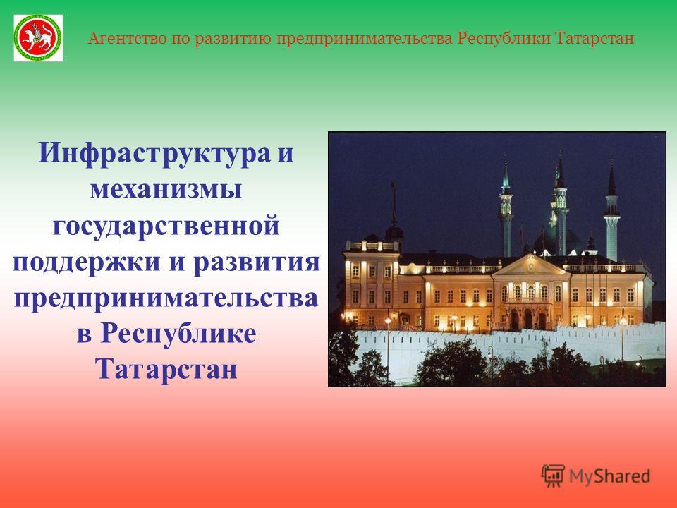 1 Агентство по развитию предпринимательства Республики Татарстан Инфраструктура и механизмы государственной поддержки и развития предпринимательства в Республике Татарстан