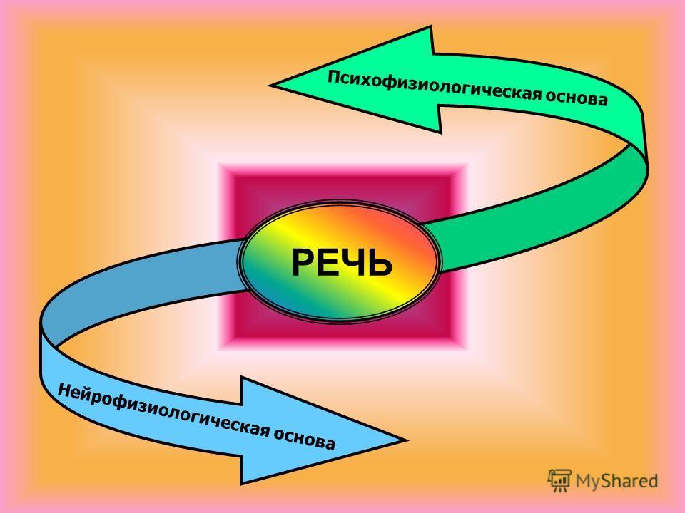 Нейрофизиологическая основа Психофизиологическая основа РЕЧЬ