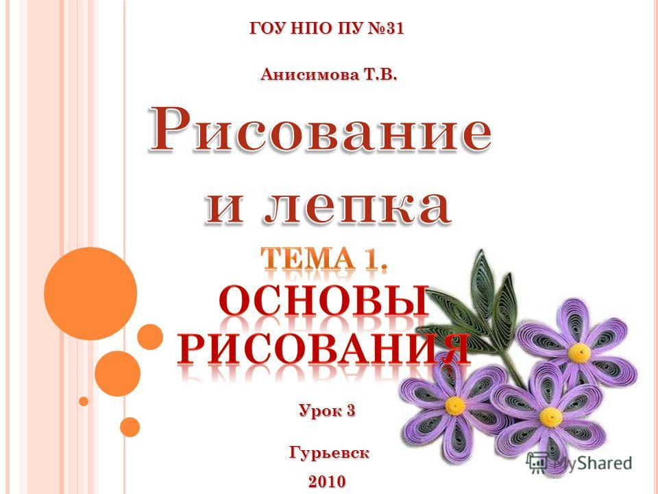 ГОУ НПО ПУ 31 Анисимова Т.В. Анисимова Т.В. Гурьевск 2010 Урок 3 Урок 3