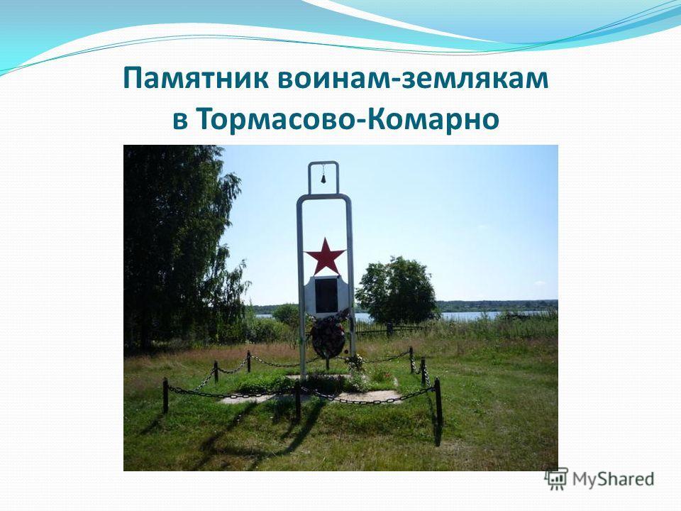 Памятник воинам-землякам в Тормасово-Комарно
