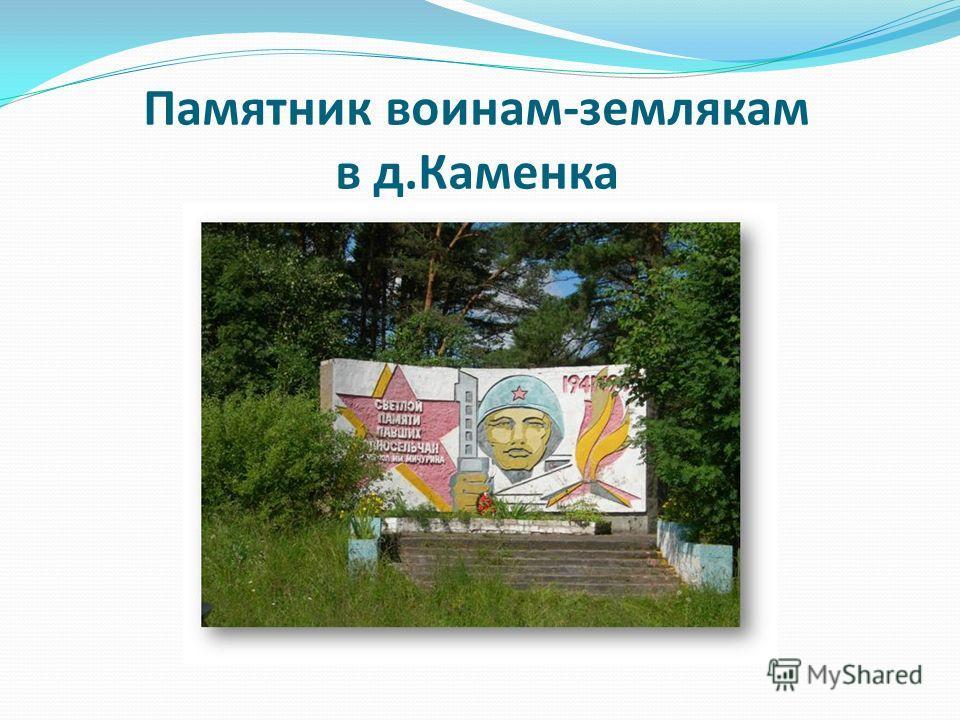 Памятник воинам-землякам в д.Каменка