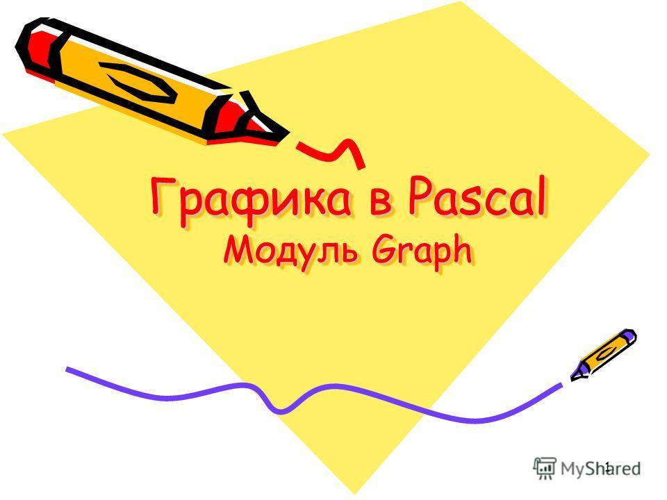 1 Графика в Pascal Модуль Graph
