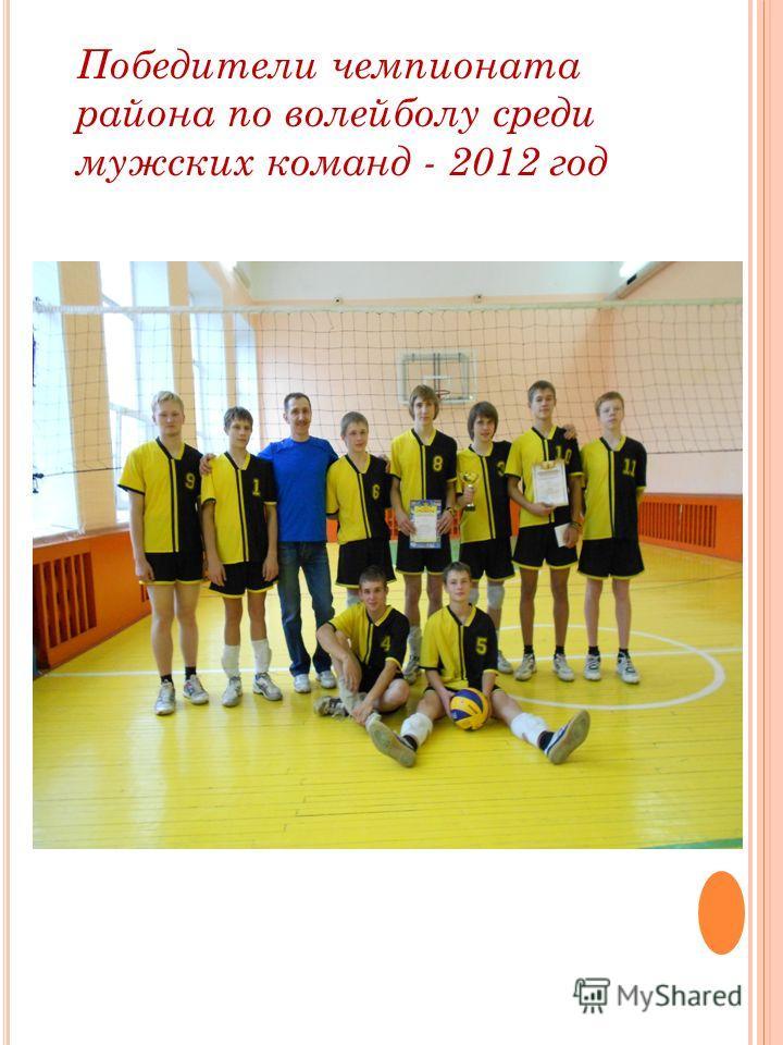 Победители чемпионата района по волейболу среди мужских команд - 2012 год